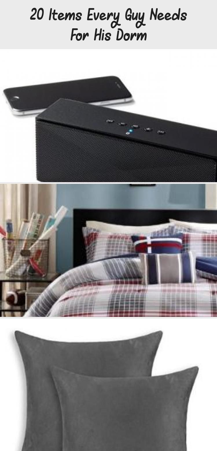 20 Items Every Guy Needs For His Dorm #dormroomideasforguys