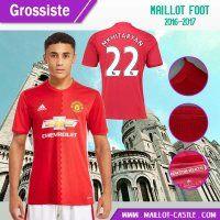 Nouveau maillot de foot pas cher Manchester United (Mkhitaryan 22) Domicile 2016-2017 | maillot-castle