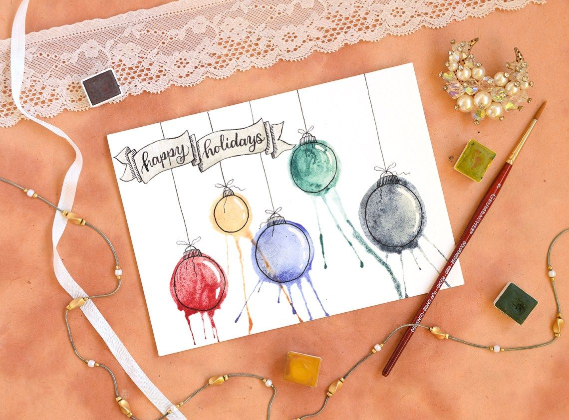 Diy Christmas Cards Artistic Ornaments Themed Diy Christmas Card Tutorial Postmans