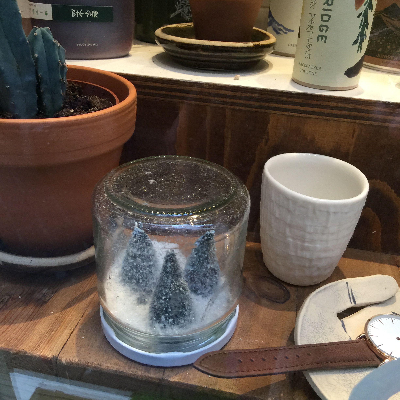 Christmas jam jar decoration