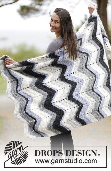 Crochet Snowy Field Alpaca and Wool Chevron/Zig Zag Afghan/Throw ...