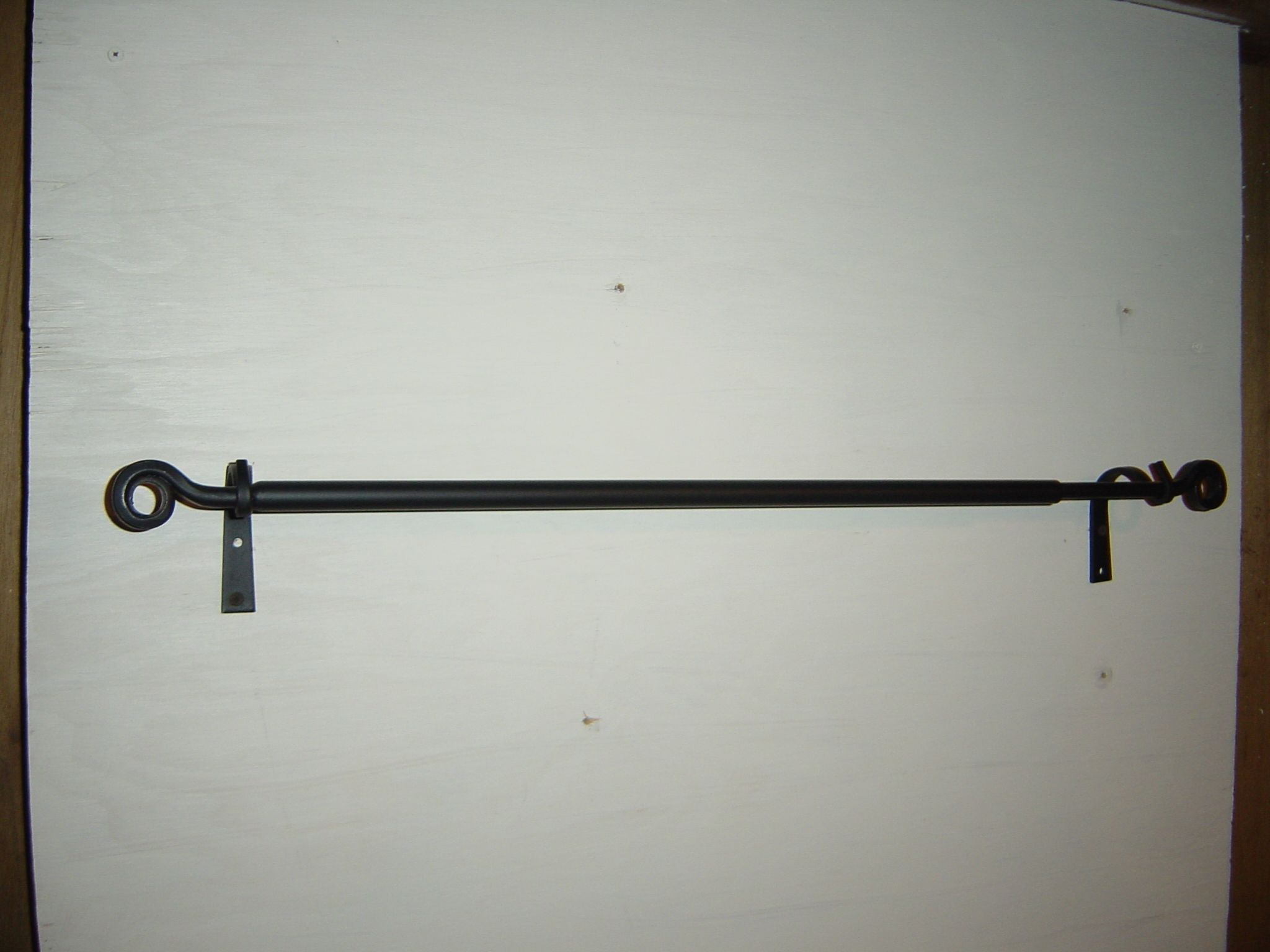 Small Black Iron Curtain Rod With Images Iron Curtain Rods