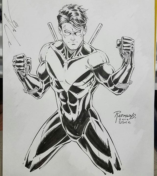 Nightwing by Norm Rapmund at San Diego Comic Con. #dccomics ...