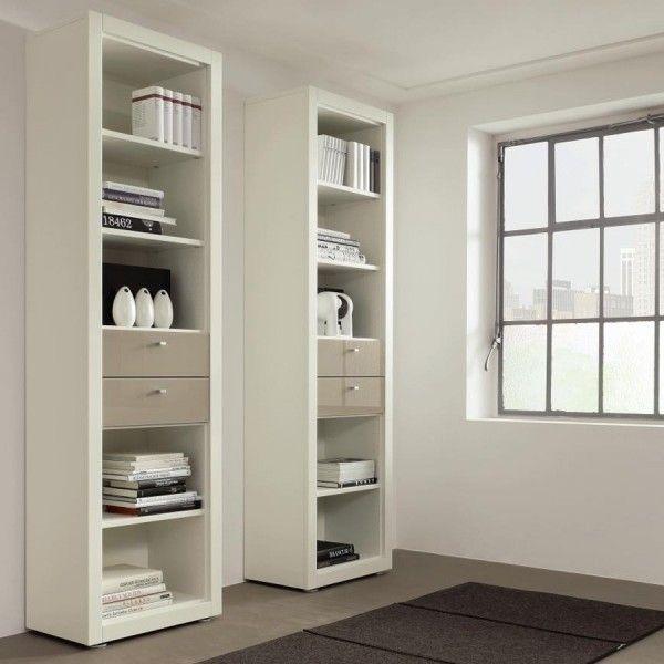 Hulsta boekenkast wit met laden wolwit made by hulsta for Garderobe xelo