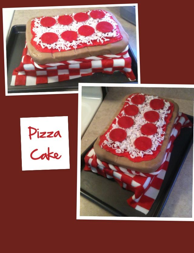 Pizza cake - square because that's how my grandfather always made his pizzas