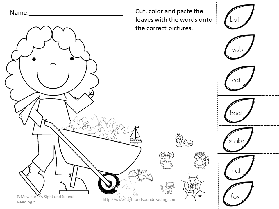 Cut and Paste Activity for Kindergarten: Learning is fun ...