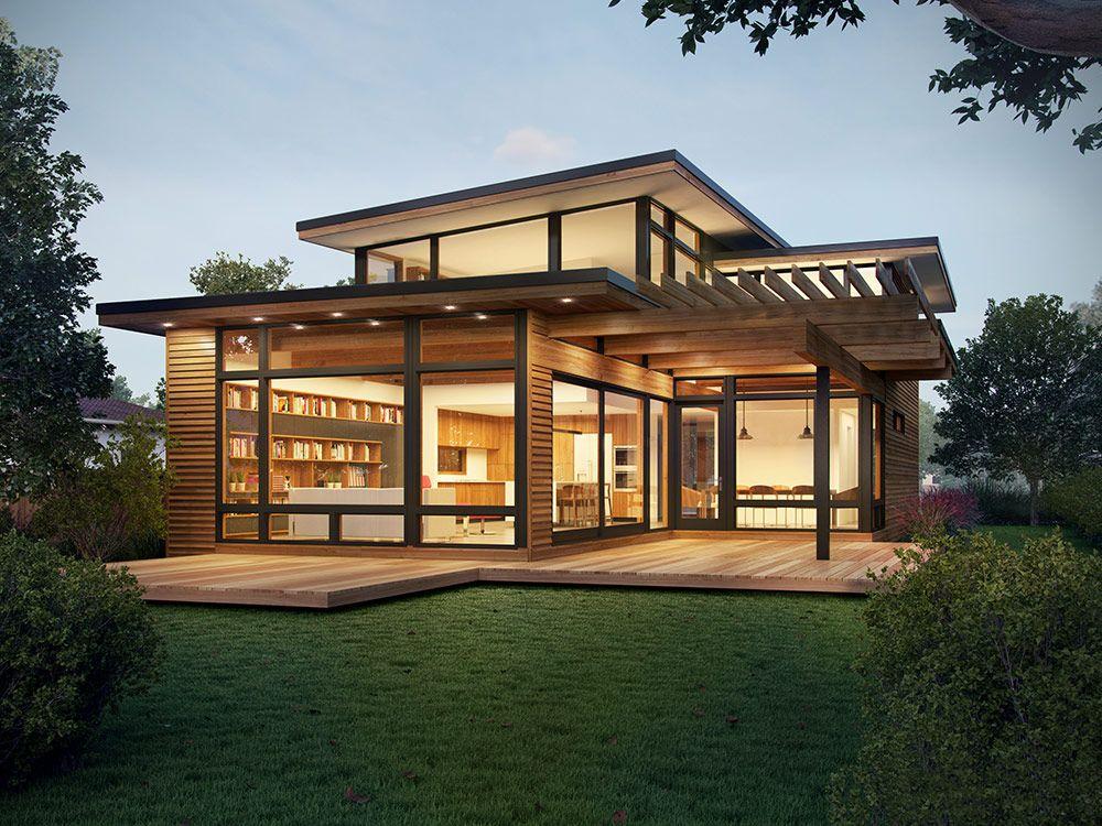 Backyard Cottage Prefab Design House Plan Affordable: Axiom 2340 - Modern Prefab