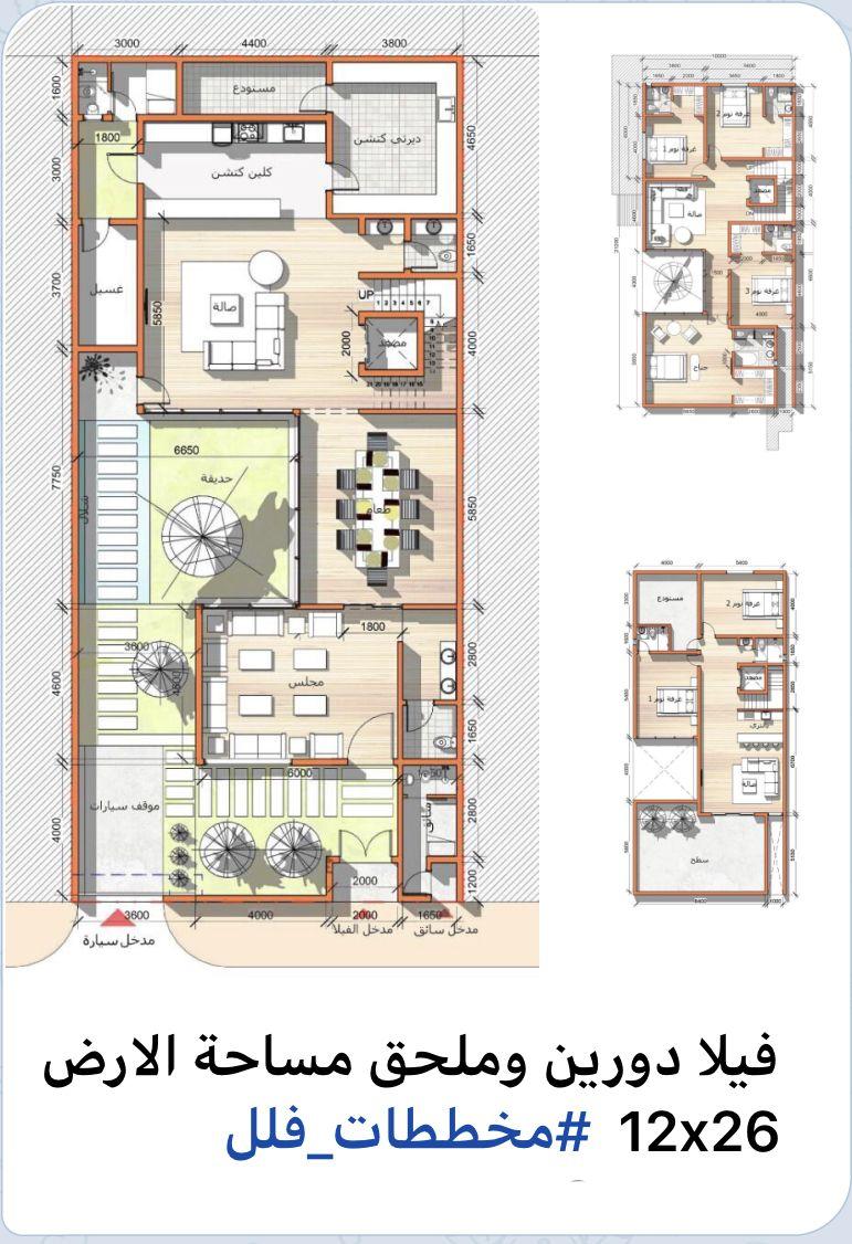 تصاميم معماريه مخطط فيلا Family House Plans Home Map Design Duplex House Design