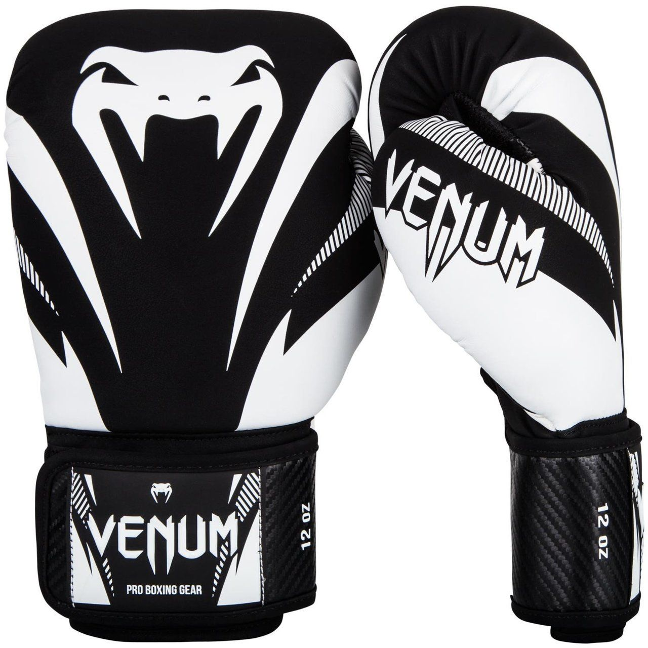 Venum Impact Boxing Gloves (Black/White) Boxing gloves