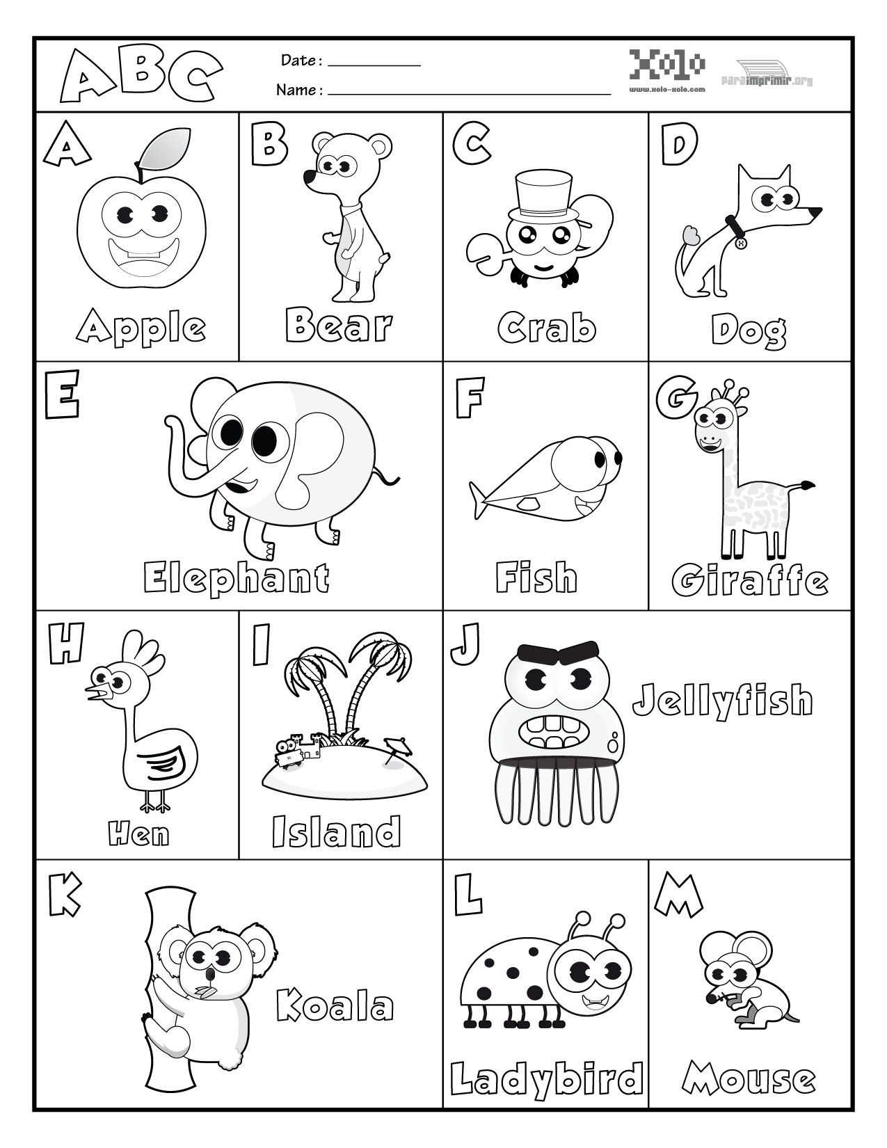 Abecedario En Ingles Para Colorear Y Para Imprimir Class Ideas