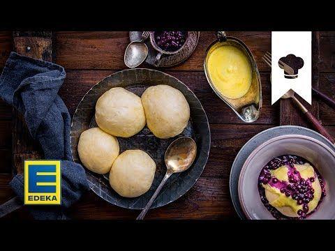 Dampfnudeln Rezept | Hefeklöße mit Heidelbeer- und Vanillesoße | EDEKA