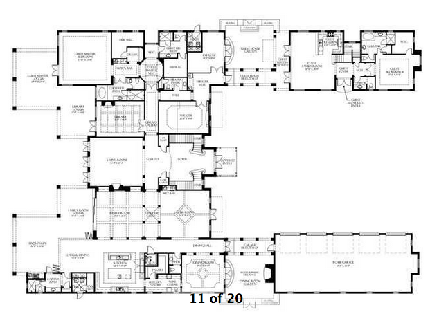 Homes Of The Rich The Web S 1 Luxury Real Estate Blog House Plans Luxury Floor Plans Mansion Floor Plan