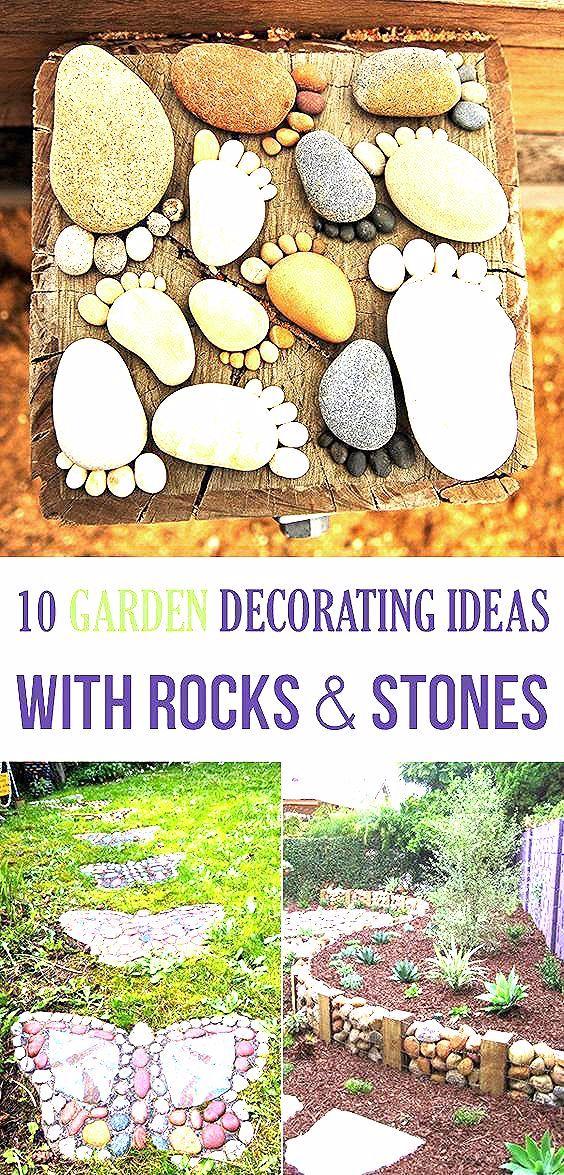 Photo of super 10 Garten Deko Ideen mit Steinen und Felsen