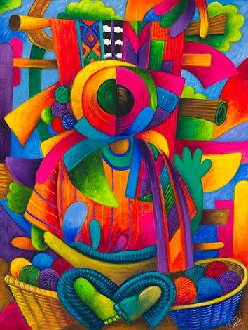 Paintings Of An Antigua Colorful Mexican City