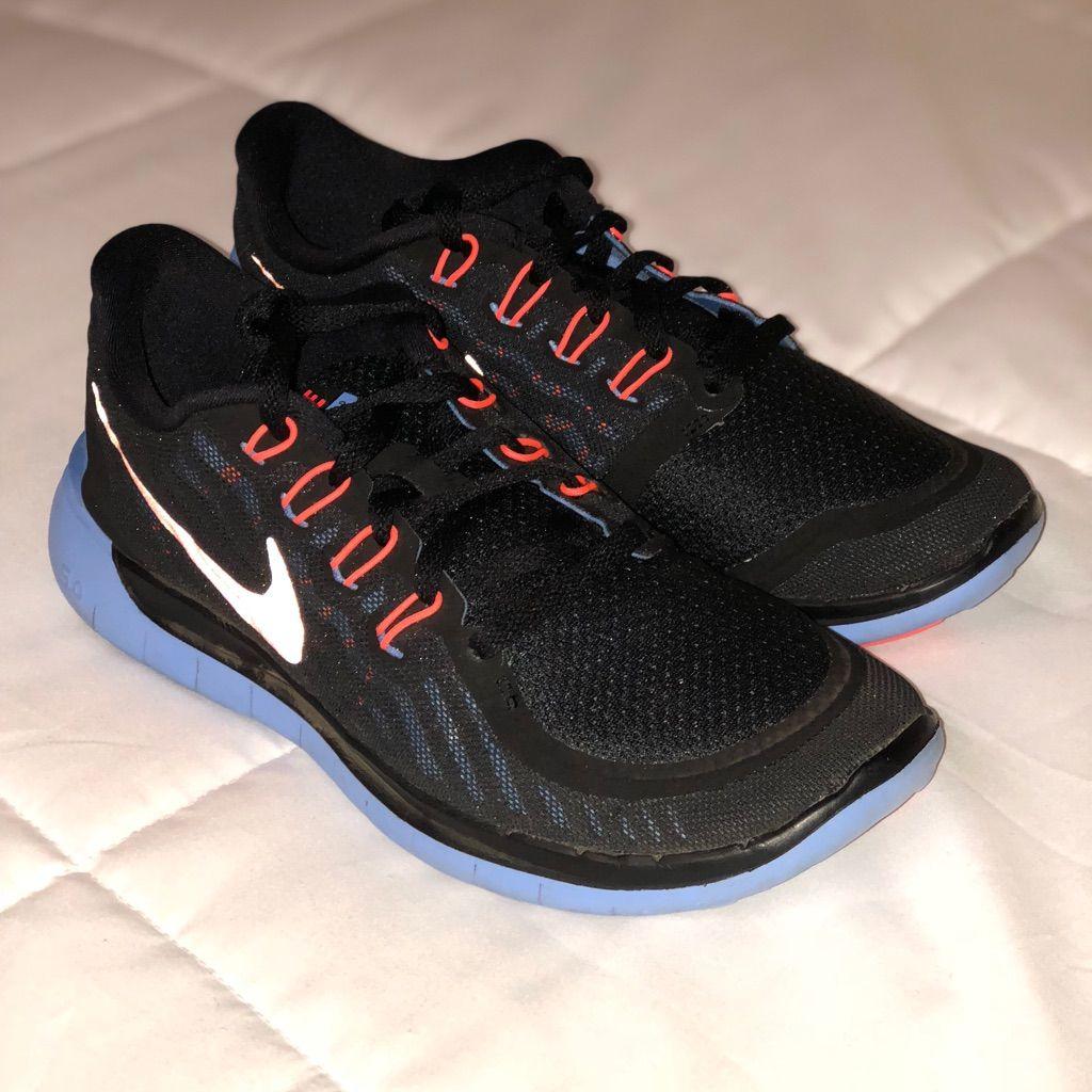 on sale 4f4c6 78a95 Nike Shoes | Nike Womens Free 5.0 | Color: Black/Blue | Size ...