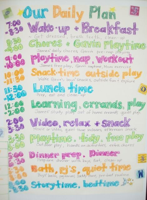 Family Daily Routine Schedule Template Super Nanny