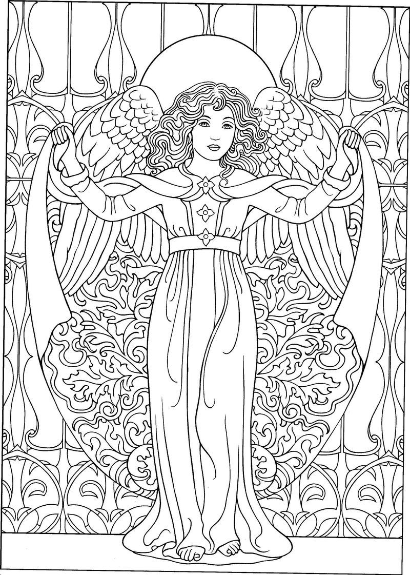 Angel Coloring Pages PDF - Coloringfolder.com  Angel coloring