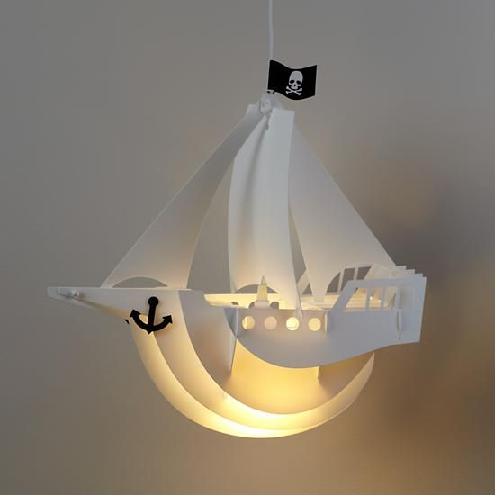 Jolly Roger Lamp Shade Kids Bedroom Lights Pirate Bedroom Kids Lighting