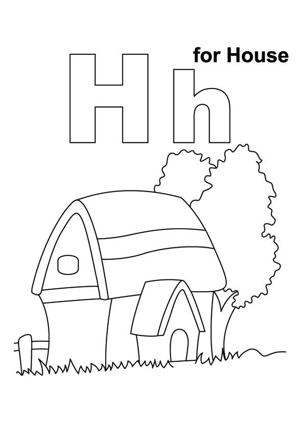 Top 25 letter h coloring pages your toddler will love to learn color