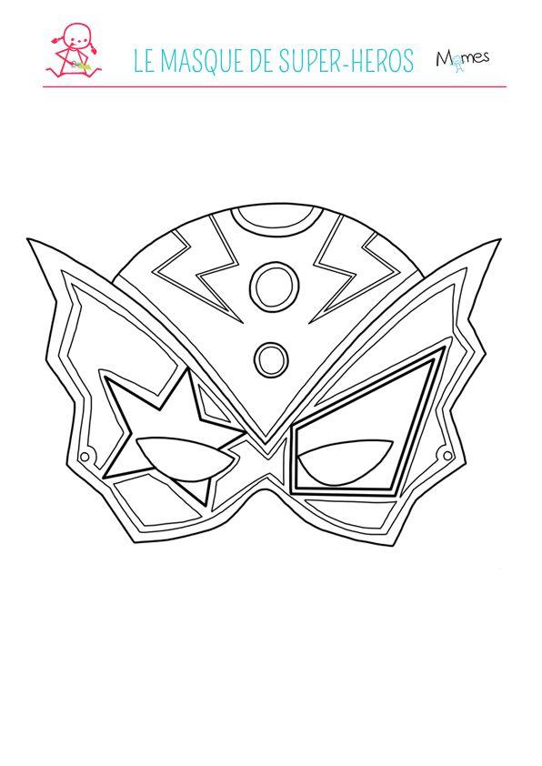 Le Masque De Super Heros A Colorier Coloriage Super Heros