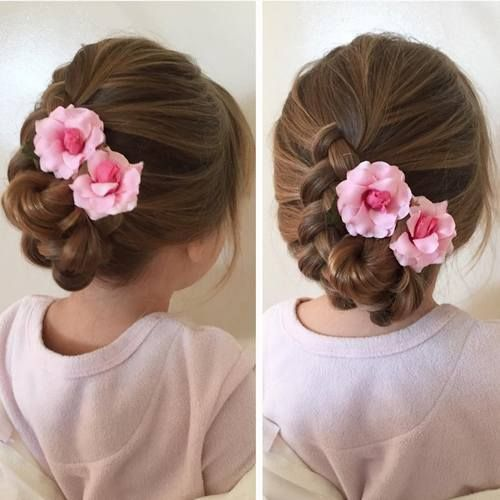Flower Girl Hairstyles For Wedding: 20 Flawless Flower Girl Hairstyles En 2019