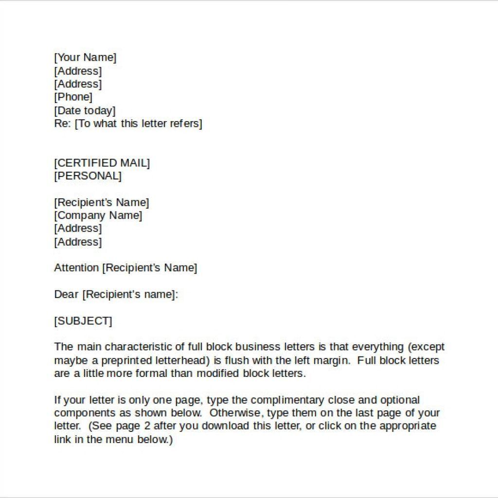 format for official letter