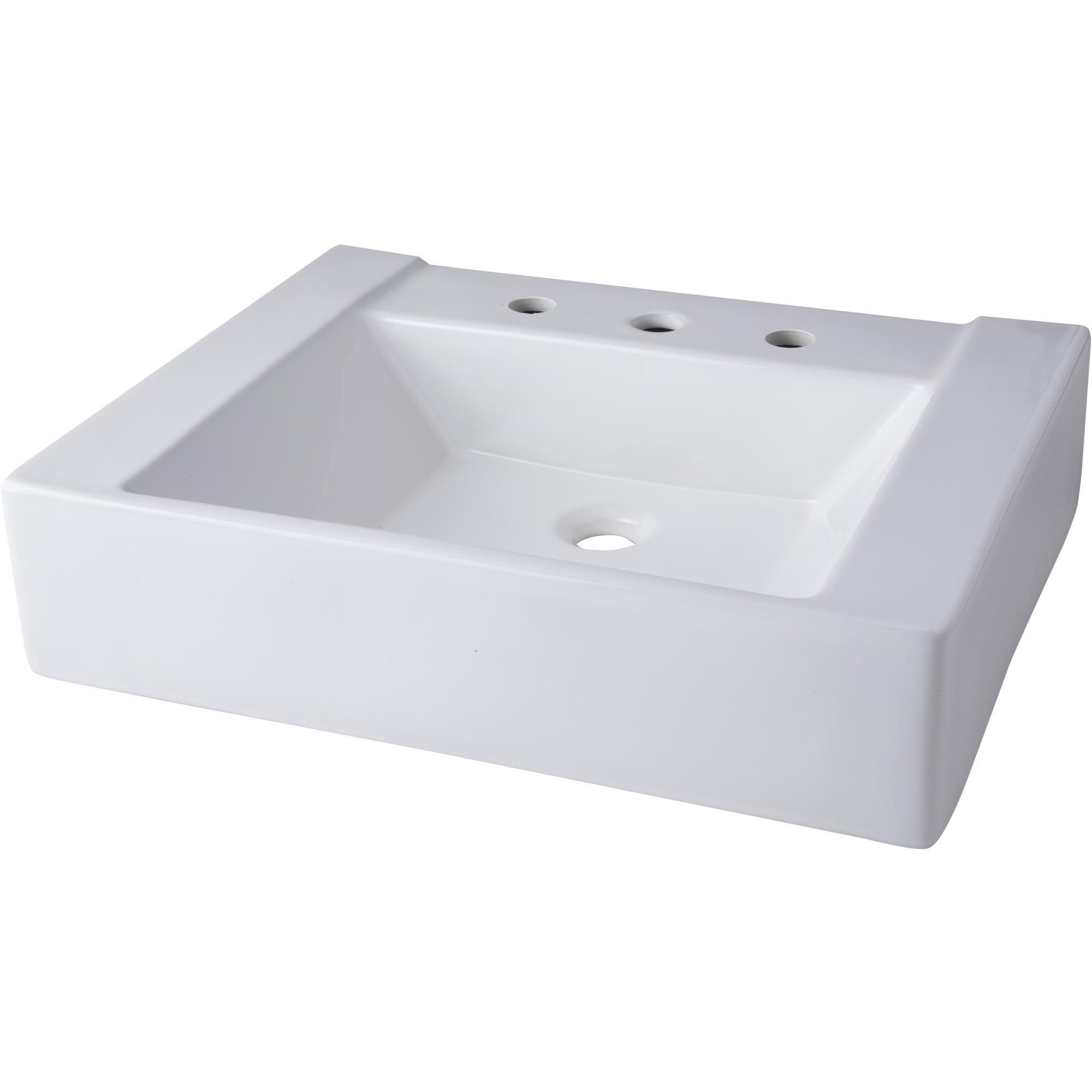 Mirabelle Mir24198a 24 Porcelain Console Bathroom Sink Only White Bathroom Sink Sink Faucet