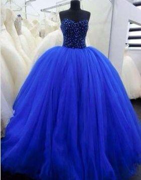 Vestido De Quinceañera Color Azul Rey En 2019 15 Años