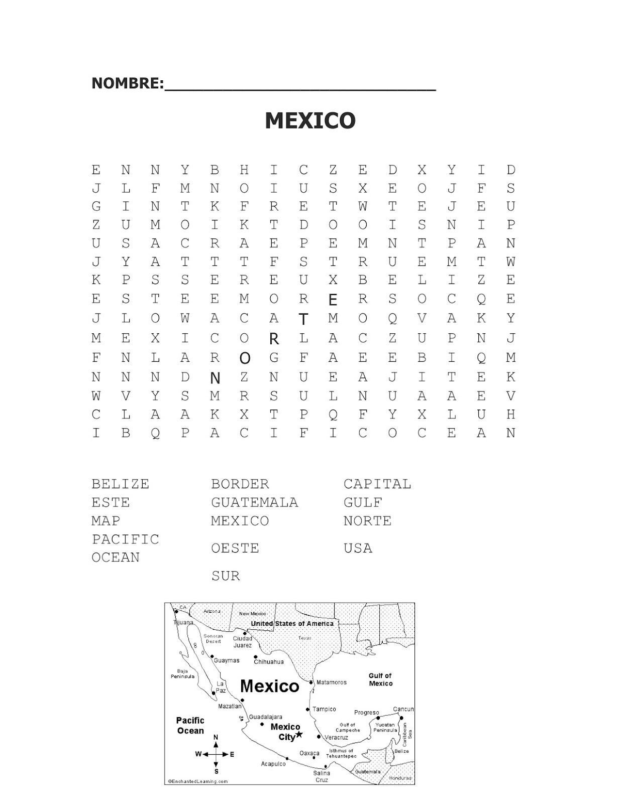 Mexican Cultural Unit: Geography | Spanish Simply | Lets\'s Study ...