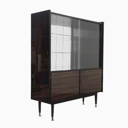 Hochglanz Mahagoni Schrank mit Glastüren Jetzt bestellen unter - schrank für wohnzimmer