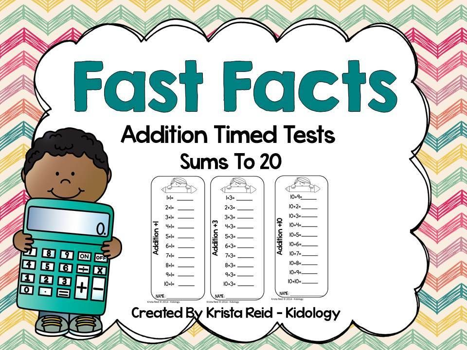 Addition To 20 Addition Practice Addition Fact Fluency