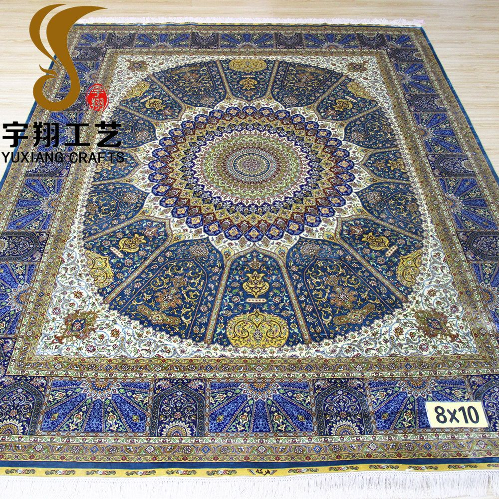 Whole 6x6 Foot 300line Handmade Persian Silk Round Rug Antique Rugs For Modern Product On