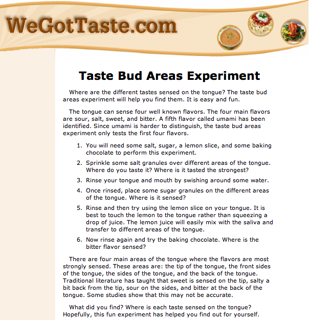 Taste Bud Areas Experiment Becurious Becurious About Taste