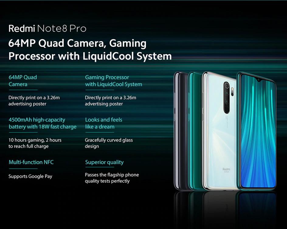 Xiaomi Redmi Note 8 Pro Green 6gb 64gb Xiaomi Dubai Xiaomi 64gb Light Sensors