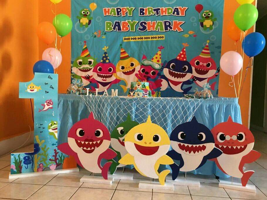 Boo Boos Party Decor In 2019 Baby Shark Baby Boy 1st