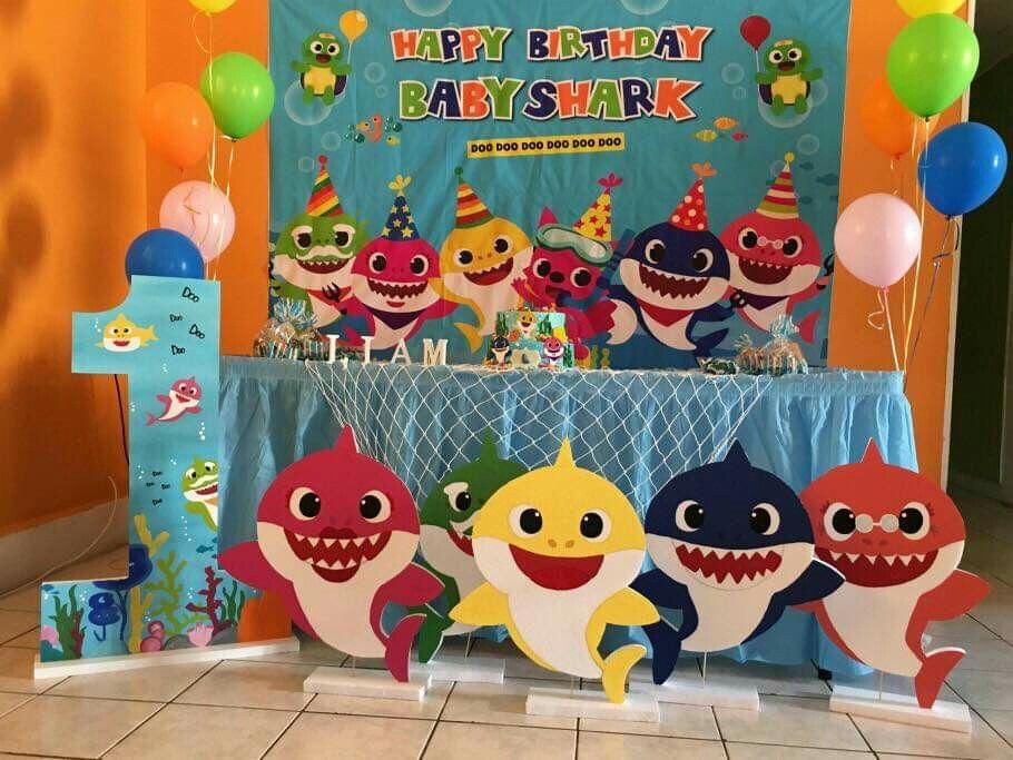 Bautizo Baby Boy 1st Birthday Party Shark Themed Birthday Party Shark Theme Birthday