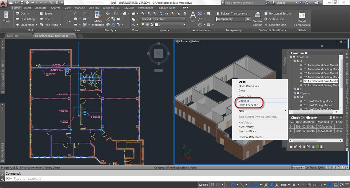 Project Navigator Check In With Images Autocad Norton