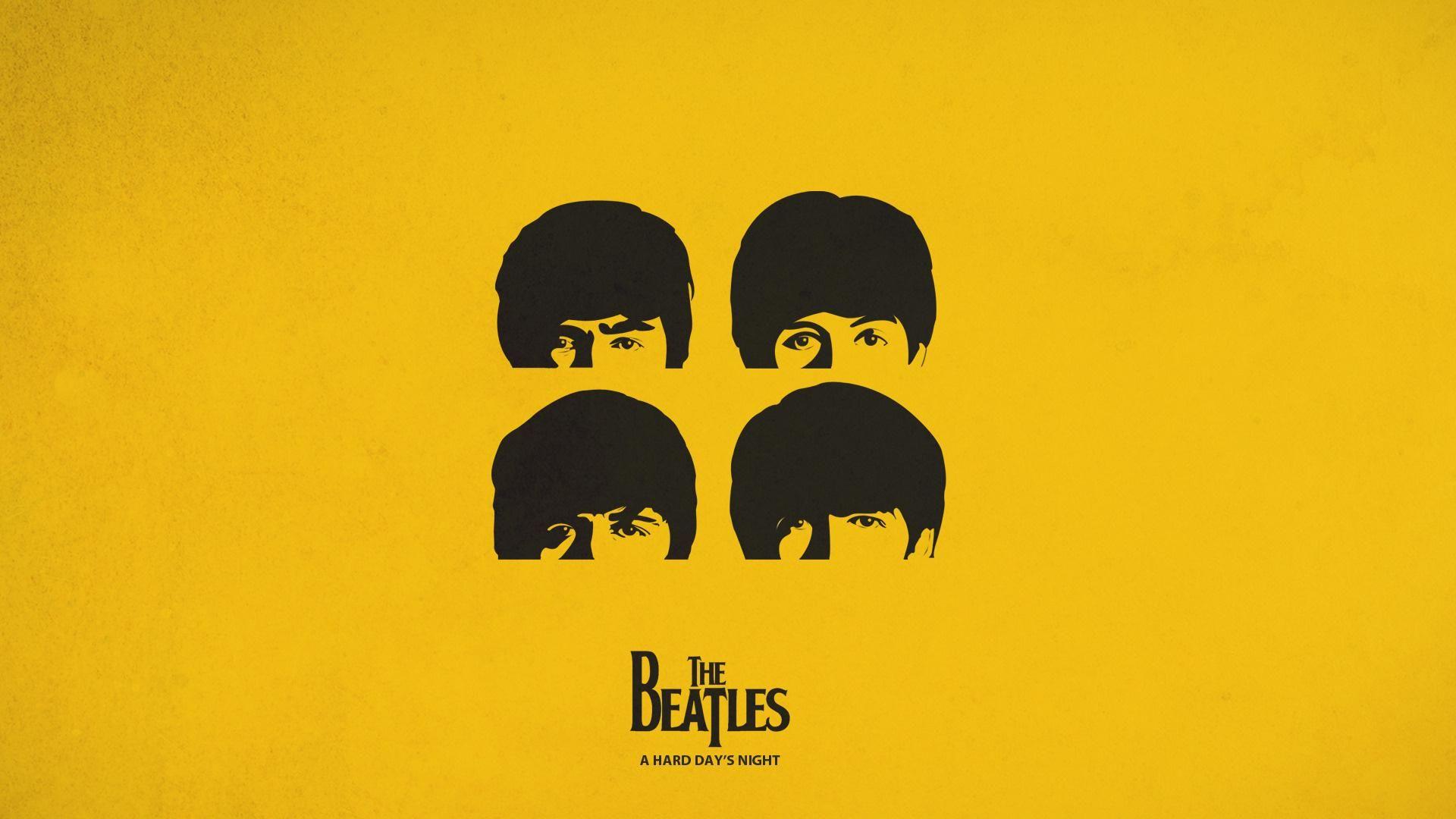 The Beatles Logo Background HD Wallpaper