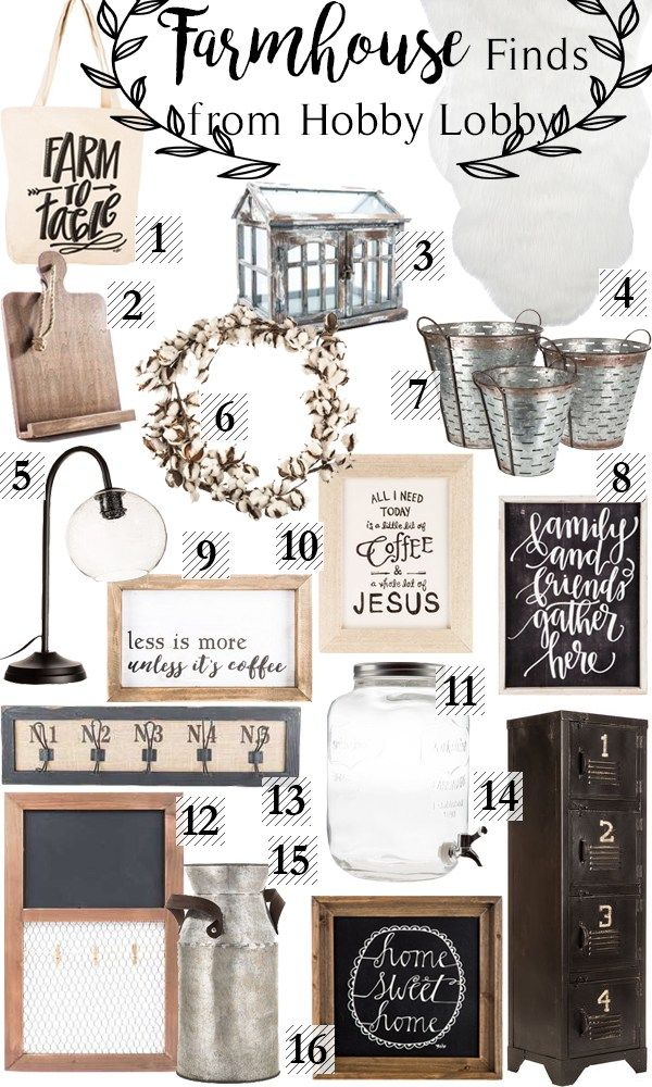 Farmhouse Finds at Hobby Lobby Happily Ever Ashley