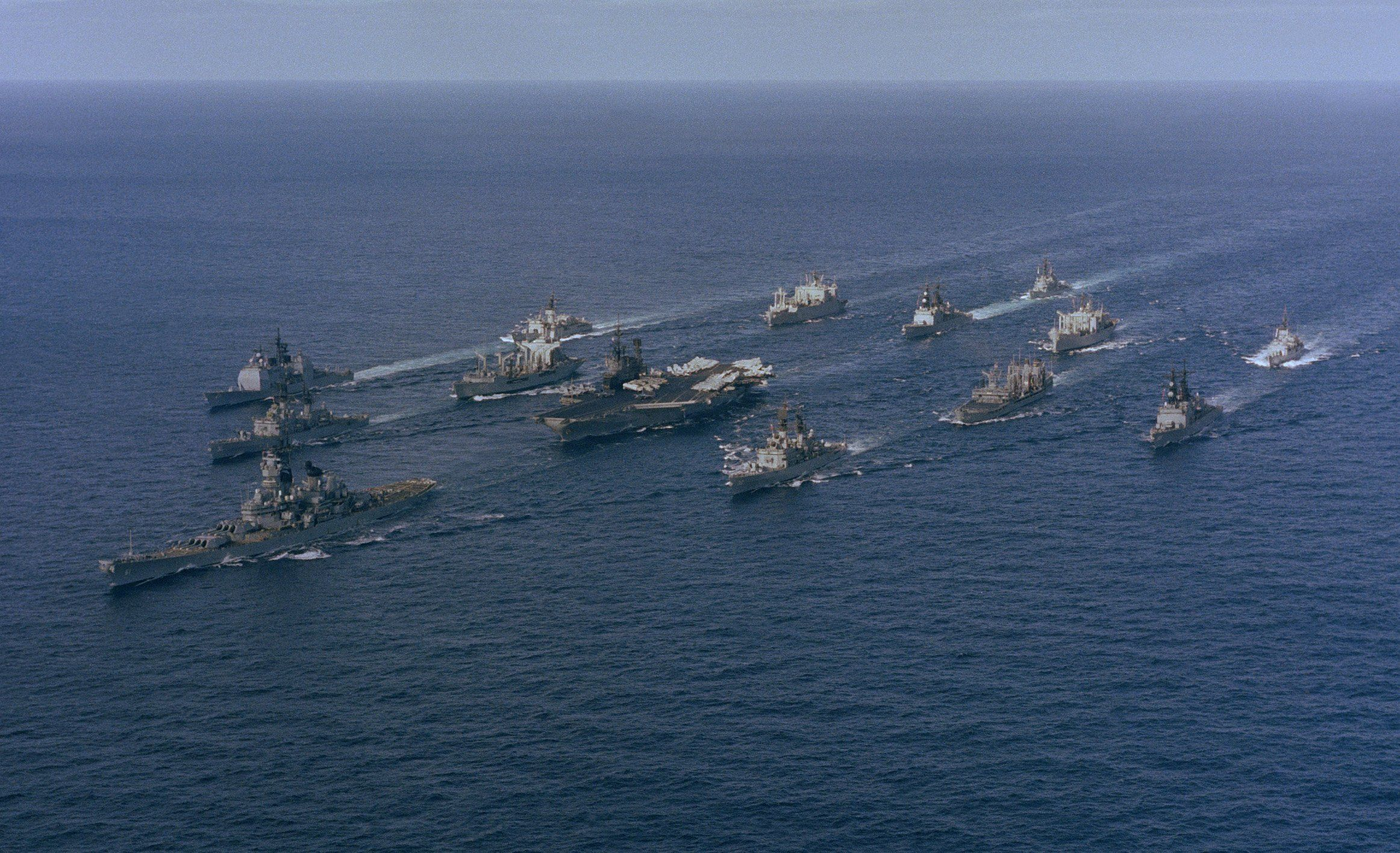 We're sending an Armada.   How about we just call it a Carrier Battle Group.   Edit: CBG  Edit 2: USS Carl Vinson Carrier Battle Group