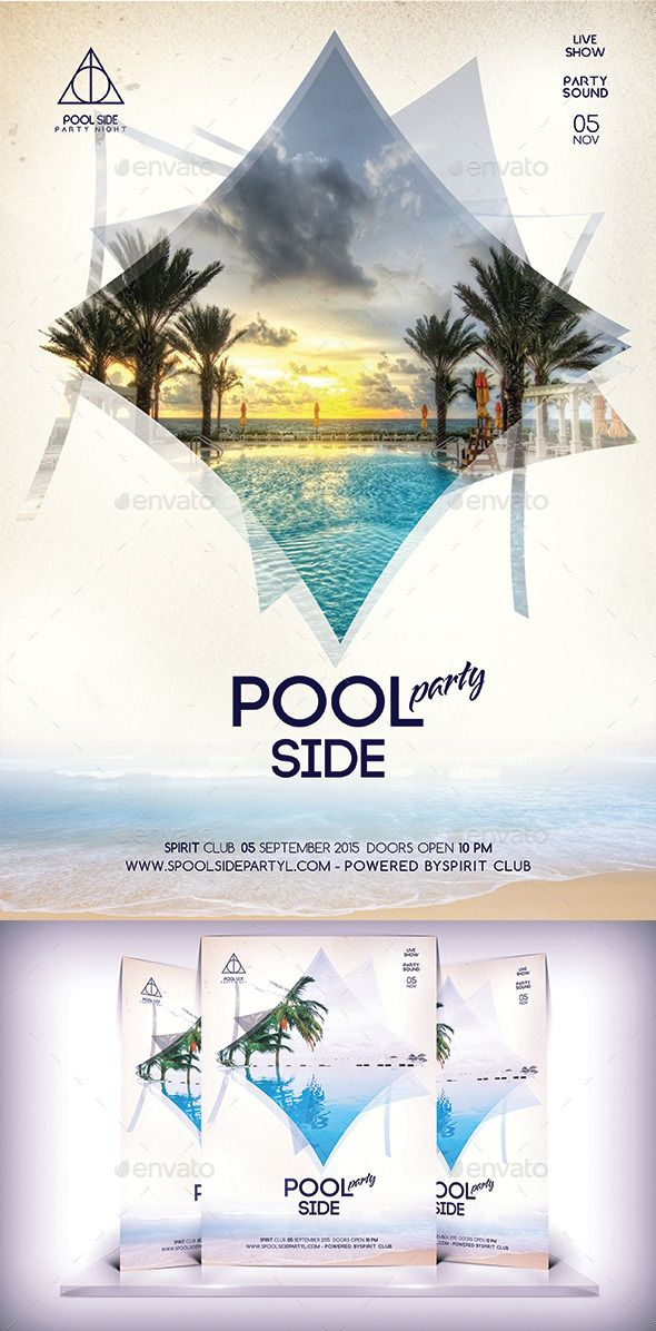 Pool Side Party Flyer | Party Flyer, Flyer Template And Flyer Printing