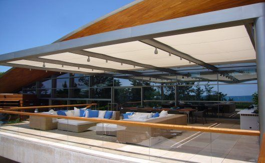 A creative and functional shading system for an outdoor area #shades