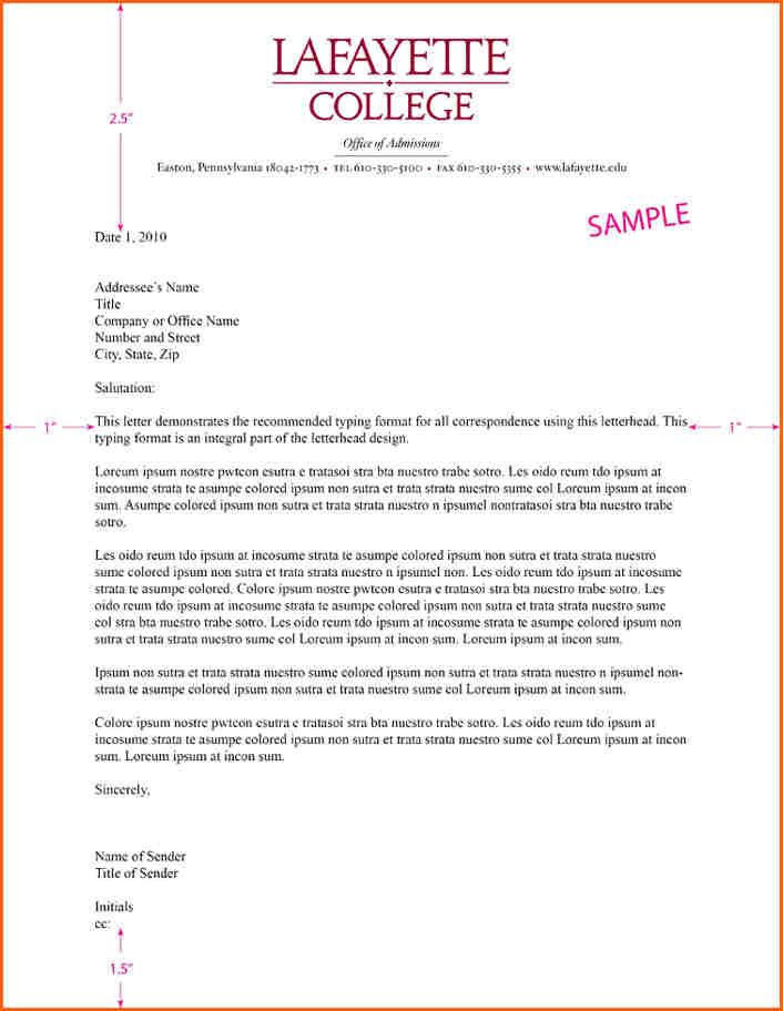 Letterhead Examples Business Letter  CityEsporaCo