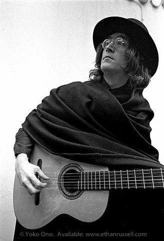 John Lennon with Guitar 1968