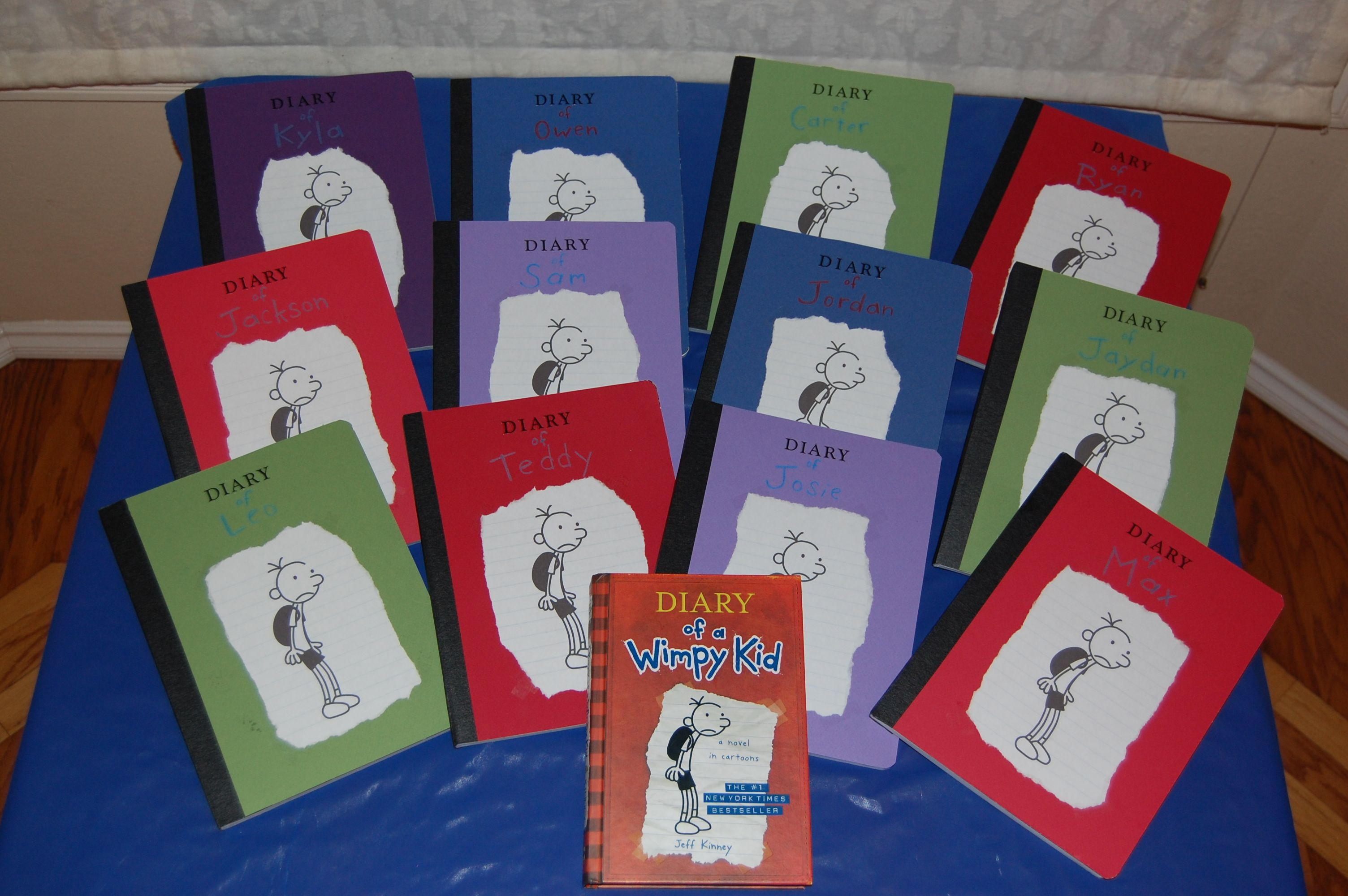 Wimpy kid party favors | Diary of a wimpy kid party ideas | Pinterest