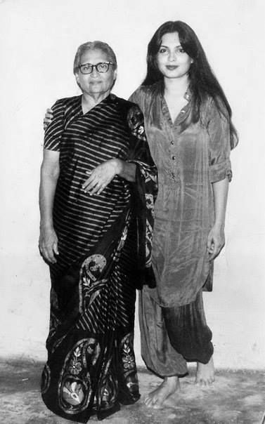Parveen Babi with her mother   Mother daughter