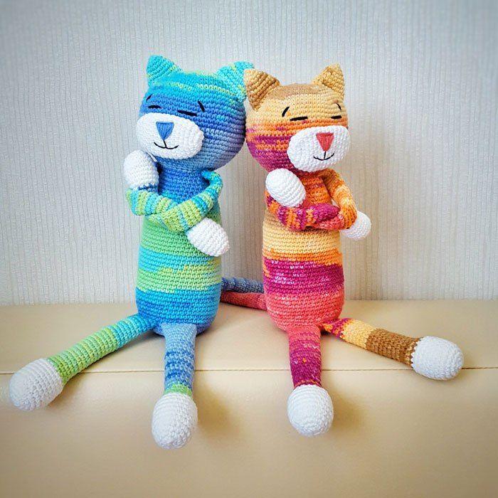 Large Ami Cat crochet pattern | Muster, Häkeln und Katzen