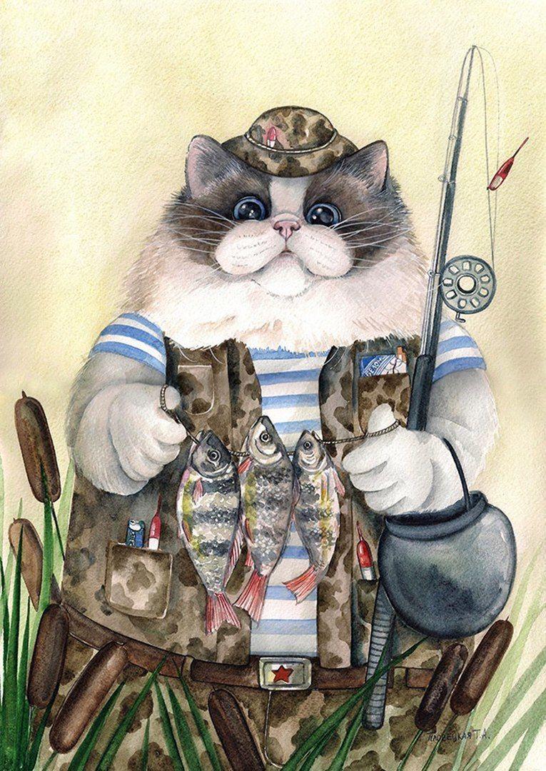 Коты прикольные картинки декупаж