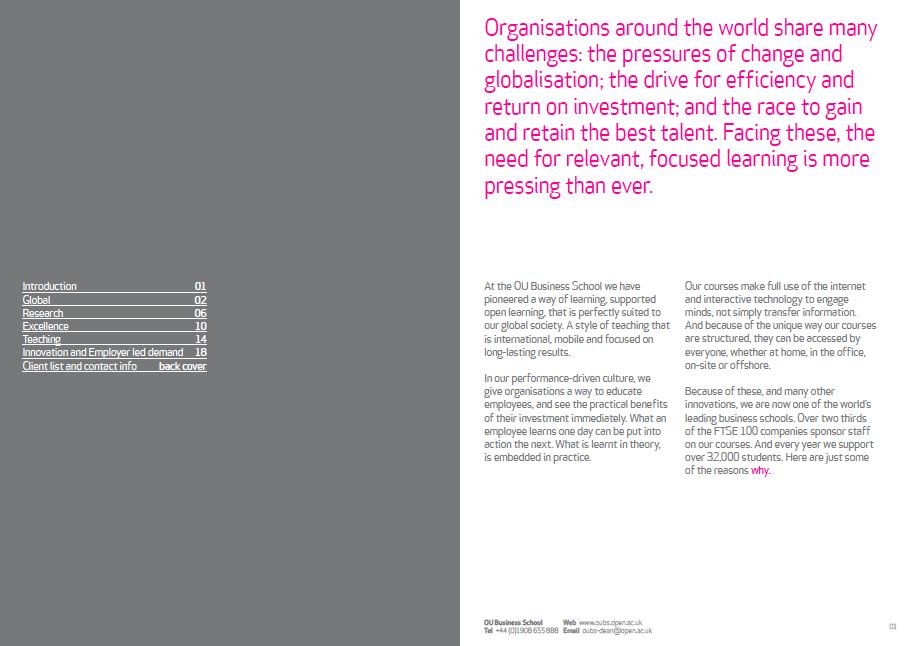 The Open University Business School brochure | SSHL | School