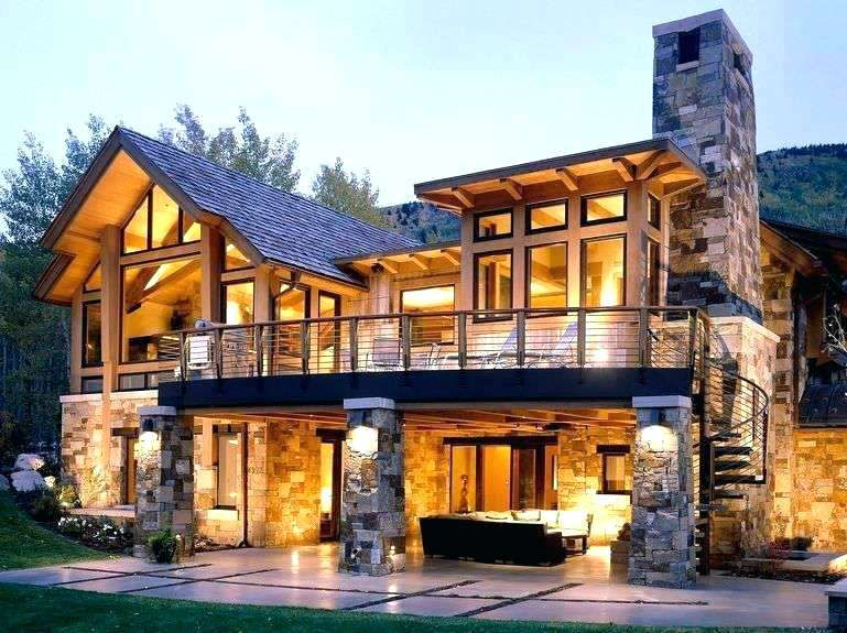 Natural Stone House Stone House Design Beautiful House Design In Rustic With Natural Stone And Al Stone Exterior Houses House Designs Ireland Stone House Plans